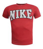 Nike Sports Red Logo Short Sleeve Mens Boys Tee Top T-Shirt 429671 648 UA14