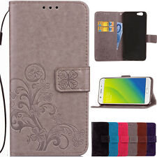 Lucky Clover Leather Flip Stand Wallet Card Holder Case Cover For Samsung Phone