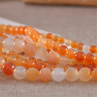 6/8/10/12mm Natural Agate Beads Gemstone Round Loose Spacer Bead Jewelry DIY