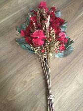 Artifical Floral Arrangement/Bouquet - Red/Gold - Christmas Decoration