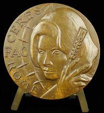 Medalla FAO en italia en Sofía Loren c1960 Actriz italiana italia medal