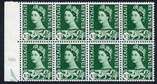 Wales XW15 1/3 Cream Paper Block of 8 U/M