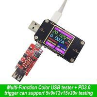 USB Tester TFT DC Digital Voltmeter Volt Amp Ammeter Detector Power Bank Charger