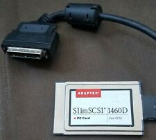 Adaptec SlimSCSI PCMCIA Fast SCSI Adapter Card 1460D w/ 50 pin to 26 pin cable