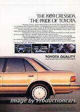 1989 Toyota Cressida Original 2-page Advertisement Print Art Car Ad J745