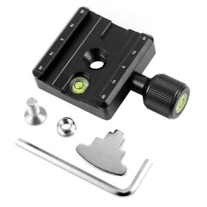 BGNING QR-50 Adapter Plate Square Clamp with Gradienter for Quick Release Plate
