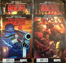 Fall of pontons Red Hulk #1-4 Set VF+ 1er Imprimé Marvel Bande-dessinée