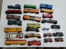Vintage Ho Scale Model Train Car'S Mixed 24 Box Cars Bachmann Atlas tyco ahm