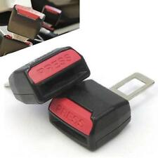 2pcs Car seat Belt Clip Universal Alarm Extension Cancellers Blug Buckle DEDC