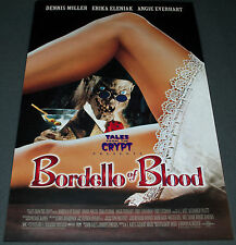 BORDELLO OF BLOOD 1996 ORIG. DS 27x40 MOVIE POSTER! TALES FROM THE CRYPT HORROR!