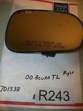 2000, 00 ACURA TL PASSENGER RIGHT POWER MIRROR GLASS W/ HEAT  701538  OEM#R243+