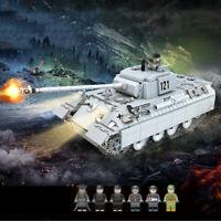 990pcs Panzerkampfwagen V Panther Modell mit Soldat Figuren Bausteine Spielzeug