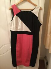 M&S Cotton stretch lined sleeveless dress size 18 Bnwt RRP £39.50. Reduced.