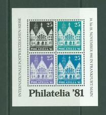 Block J13 Special Sheet 1981 Germany Frankfurt a M Architecture