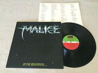 MALICE IN THE BEGINNING + INNER 1985 AUSTRALIAN PRESS LP