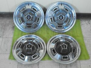 """67 68 69 Plymouth Mag Hub Caps 14"""" Set of 4 Wheel Covers 1967 1968 1969 Hubcaps"""