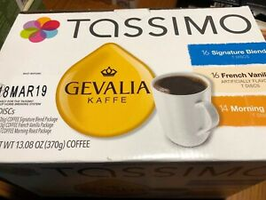 Tassimo Gevalia  Kaffe Variety Pack Signature/ French Van/ Morning Roast 03/2019