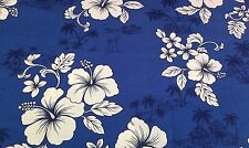 Brand New-100% Cotton-FQ-Blue and White Floral and Golf  Design-22 x 18 Inches