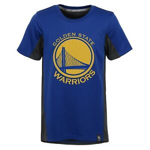 Golden State Warriors NBA Boys Youth Assist Short Sleeve Shooter Tee, Blue/Black