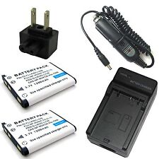 Charger + 2x 3.7v Battery for NP-80 Casio Exilim Hi-ZOOM EX-H5BK QV-R100 QV-R200