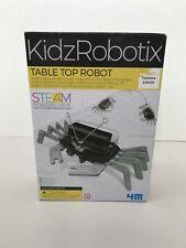 New 4M KidzRobotix Table Top Robot Fun Mechanics Kit Smart Robotic Crab