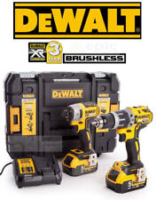 Dewalt 18v Brushless Combi Drill & Impact Driver Kit 2 x 5.0Ah Battery DCK266P2T