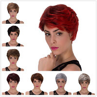 Women Short Straight Hair Cosplay fluffy Wig Lolita Full Party Fancy Dress Wigs