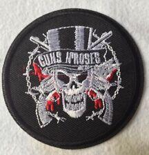 Ecusson patch  Guns Roses- drapeau - 8  cm de diamètre  - Livraison gratuite