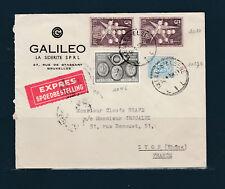 Eta/ enveloppe  Belgique expres pour Lyon  1958