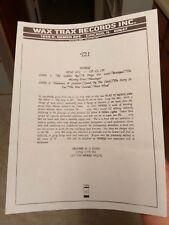 TRISOMIE 21 T21 1988 Wax Trax Band Release Update 8 1/2 x 11
