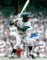 Manny Mota Signed 8X10 Photo Autograph LA Dodgers Road Ready to Swing Auto COA