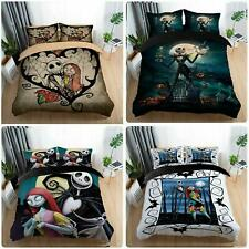 3D The Nightmare Before Christmas Jack Sally Comforter Cover Kids Bedding Sets