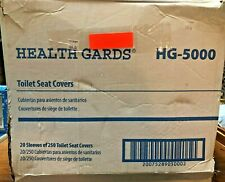 Hospeco Health Gards HG-5000 –2 Case's of 5,000 Toilet Seat Covers, Disposable