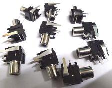10 right angle pcb mount phono RCA sockets