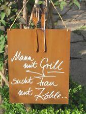 Edelrost Garten Schilder Tafeln Gunstig Kaufen Ebay