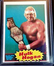 1985 Topps WWF Hulk Hogan Rookie Wrestling BLUE Card RC Card #16