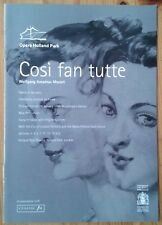 Cosi Fan Tutte programme Opera Holland Park 2006 Doreen Curran Thomas Walker