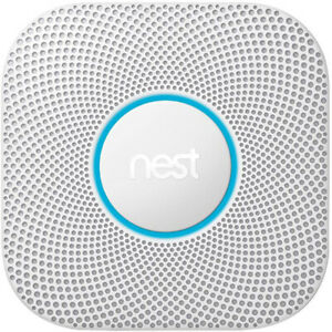Google Nest Protect Wired Smoke and Carbon Monoxide Alarm (White, 2nd Gen)