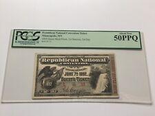 1892 Republican National Convention Ticket President Benjamin Harrison PCGS 50