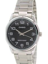 Casio Mtpv001d-1b Standard Stainless Steel Easy Reader Black Dial Men's Watch