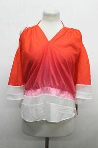 PATRIZIA PEPE Ladies Camicia Flame Red Strappy Neck Blouse UK12 EU44 BNWT