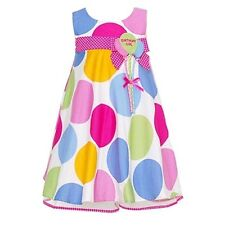 Bonnie Jean Baby Girls Pastel Dot Balloon First Birthday Dress 18M
