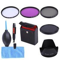 77mm UV CPL FLD Filter Kit+Lens Hood+Cap For Nikon D810a D800 D750 D4s & 24-70mm