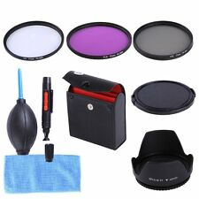 77mm UV CPL FLD Filter Kit+Lens Hood+Cap For Nikon D810a D800 D750 D4s & 24-70mm