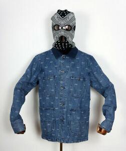 Huf Shoes Worldwide Windbreaker Jacket Jacke Jeans Domestic Denim Indigo in M