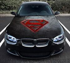Vinyl Car Hood Graphics Decal S Superman logo Full Color Sticker