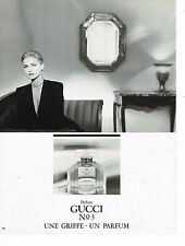 PUBLICITE ADVERTISING 035  1986  GUCCI   pafum femme n°3