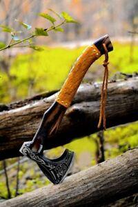 Custom Handmade Viking Axe, Carbon Steel Hatchet Valhalla axe Battel Axe JW-1241