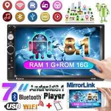 """7"""" Radio del Coche Android 9.1 2 DIN Enlace Espejo Bluetooth MP5 WIFI GPS Navi"""