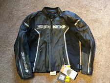 Spidi black leather gp motorcycle jacket new bargain ,great quality ,
